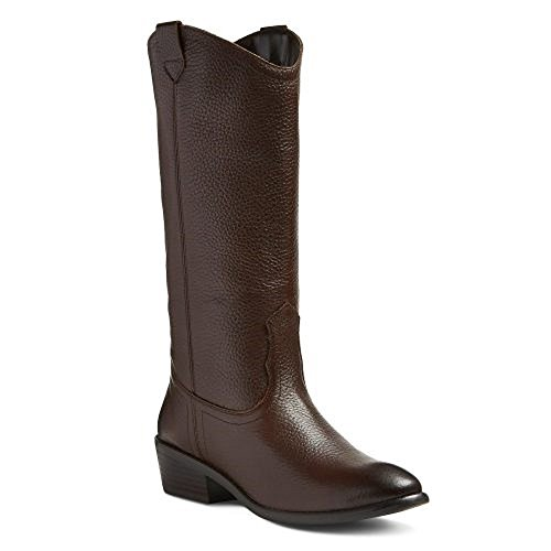 Price comparison product image Women's Genuine 1976 Charlotte Pebbled Leather Pull On Boots (9.5, Brown)