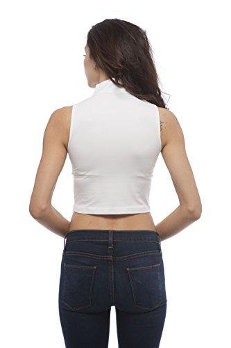 Hollywood Star Fashion - Camiseta sin mangas - para mujer blanco