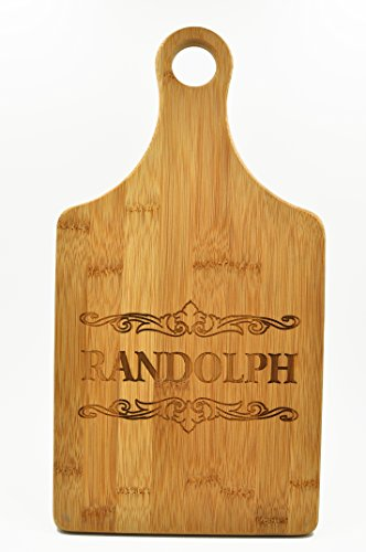 Custom Cutting Board - Wood Engraved Cutting Board - Personalized Bamboo Cutting Board - Paddle Shaped Cutting Board