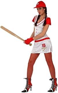 WIDMANN Disfraz de jugadora de béisbol para Mujer - L  Amazon.es ... ada6bb5c57e