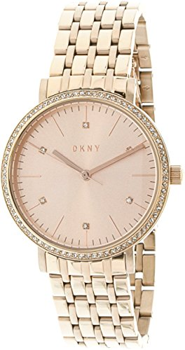 DKNY Women's 'Minetta' Quartz and Stainless-Steel-Plated Casual Watch, Color:Rose Gold-Toned (Model: NY2608)