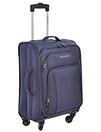 Renwick Navy Blue 20 inch Lightweight Carry On Rolling Suitcase with Extendable Handle