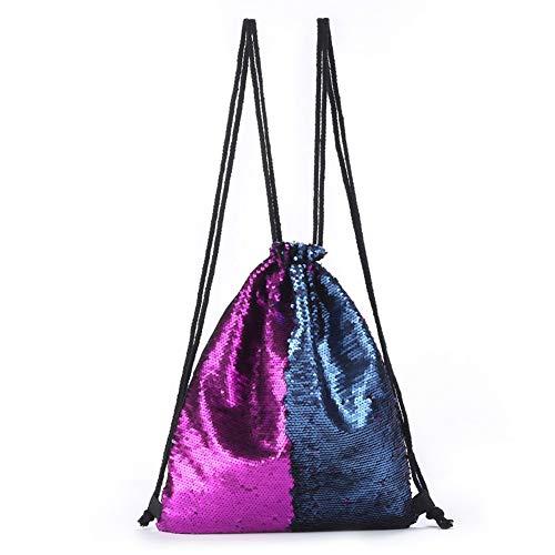 serrage 2 de Paillettes dos Vente fille Mode plage VHVCX Femmes cadeau à pour chaude cordon Hommes Sac de Double Sac Sac avec couleur bandoulière à Sv77Aqx