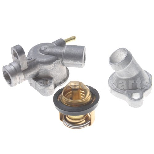 Honda Helix Scooters - GOOFIT Thermostat Assy for Honda Helix CN250 Elite CH250 Hammerhead Baja 250 Water-cooled 250cc ATV Scooter