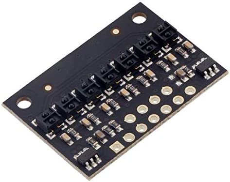 4mm Pitch RC Output Low Current QTRX-HD-07RC Reflectance Sensor Array: 7-Channel