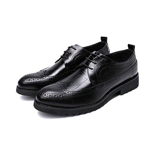 Casual Antiscivolo Inghilterra Uomo da Scarpe Black Suole Scarpe in Bullock Maschili con in d'Affari LQV Comfort Gomma Scolpite Scarpe TwPqwX