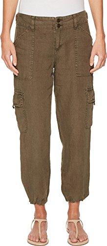 Sanctuary Cropped - Sanctuary Women's Terrain Linen Crop Pants Fatigue 29 26