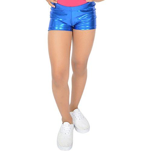 Stretch is Comfort Girl's Mystique Booty Shorts Royal Blue - Cheer Royal Blue Dress