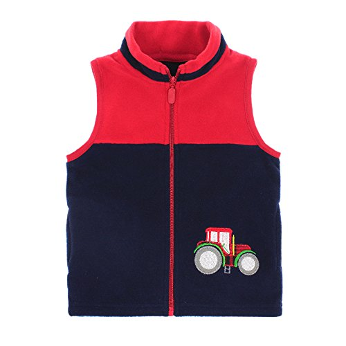 HUAER& Baby Boys and Girls' Zip Front Embroidery