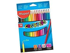 Maped Color Pencils 18 Pieces Set