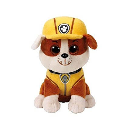d383e16b9bb Image Unavailable. Image not available for. Color  Ty Beanie Babie Rubble  bull dog Paw Patrol ...