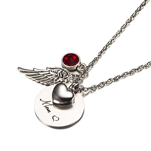 Cremation Jewelry for Ashes Urn Necklaces Memorial Gifts ...