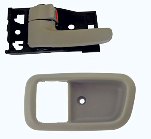 Charcoal Grey Bezel - DELPA CL4910 > Front Left Inside Door Handle and Bezel Light Gray Fits: 00 Thru 06 Toyota Tundra Regular & Ext Access Cab
