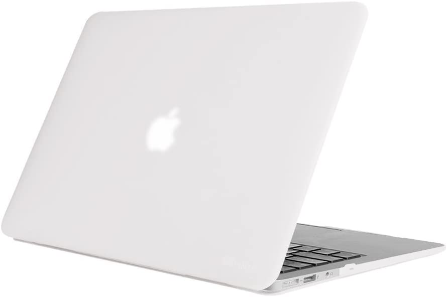 Fintie Case for MacBook Air 13 Inch - Fits Previous Generations A1466 / A1369 (Not Fit MacBook Air 13 with Touch ID A2337 (M1) / A2179 / A1932), Slim Snap On Hard Shell Protective Cover, Frost Clear