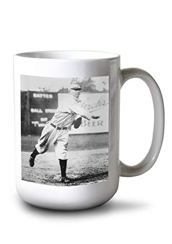 - Lantern Press Red Corriden, Detroit Tigers, Baseball Photo (15oz White Ceramic Mug)
