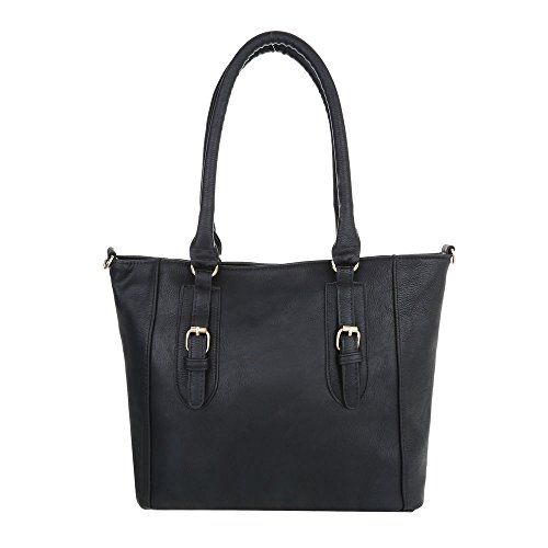 Schuhcity24 Taschen Handtasche In Used Optik Schwarz