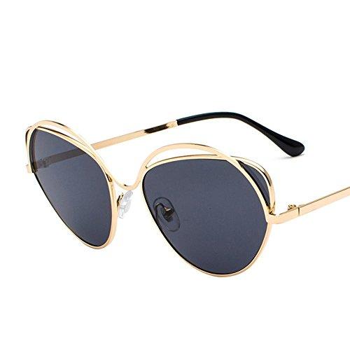 Aoligei Dame de lunettes de soleil cadre métallique ronde face Corée du Sud  marée lunettes rondes 50a850a48b89