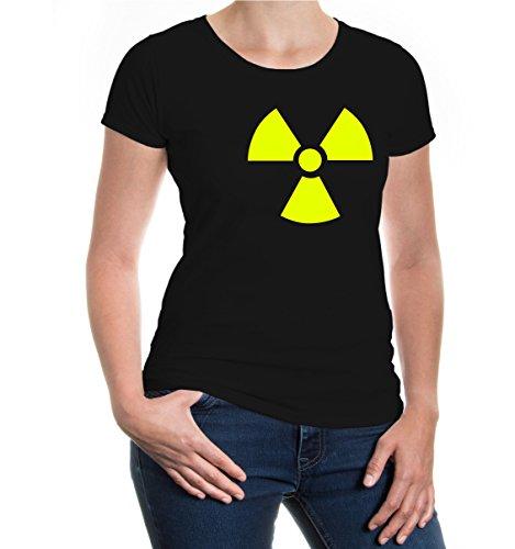buXsbaum® Girlie T-Shirt Radioaktiv V1 Black