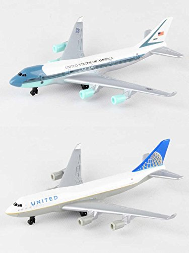 Daron Air Force One, United Airlines Diecast Airplane Package - Two 5.5