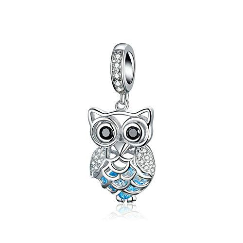 Owl Charm 925 Sterling Silver Bird Charm Animal Charm Birthday Charm Pet Charm for Pandora Charm Bracelet (Owl)