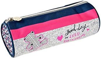 Estuche redondo Lulu Castagnette Good Day rosa: Amazon.es: Equipaje