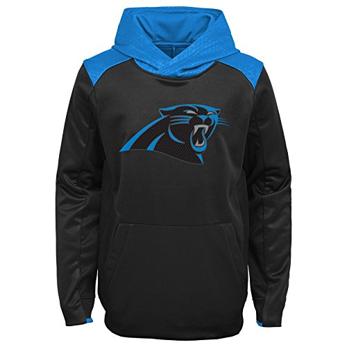 NFL Carolina Panthers Kids & Youth Boys Off The Grid Performance Pullover Hoodie, Black, Kids Large(7)