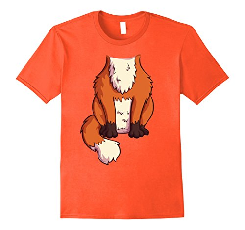 Mens Fox Costume T-Shirt for Halloween Fox Animal Cosplay Large (Male Fox Costume)