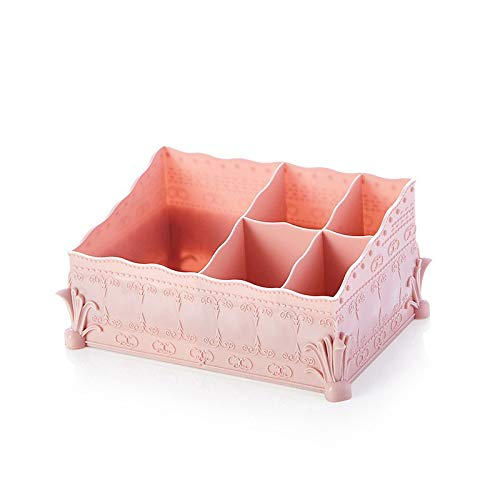 Storage Baskets - European Style Exquisite Cosmetics Storage Box Multi Purpose Desktop Office Business Card - Tall Essentials Woven Ivory Industrial Shallow Small Open Lid Matching