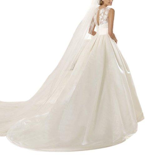 GEORGE mit Perlen und und Chantilly Satin BRIDE Spitze mit Tuell Taschen Elfenbein koenigliche Details Ballkleid zvgxzUqrw