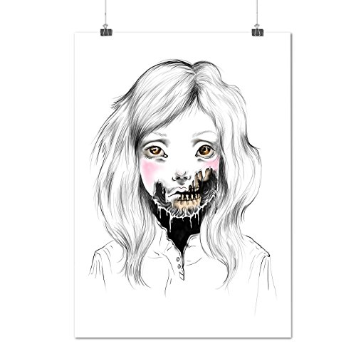 [Girl Face Skeleton Sadness Head Matte/Glossy Poster A2 (60cm x 42cm) | Wellcoda] (Poltergeist Girl Costume)