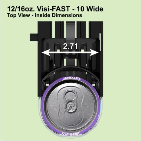 Display Technologies, LLC 12/16oz. Visi-Fast Pusher Glide - 6 Pack