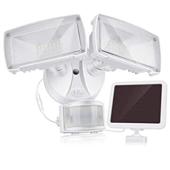SOLLA Dual-Head Solar Motion Sensor LED Security Light, 950 lm, 5000K Daylight, 3 Modes, Adjustable Head and Detector and Solar Panel, IP65 Waterproof Flood Light for Outdoor …