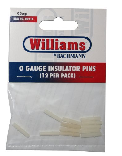 Williams by Bachmann O - Gauge Insulator Pins, 12 Per Pack