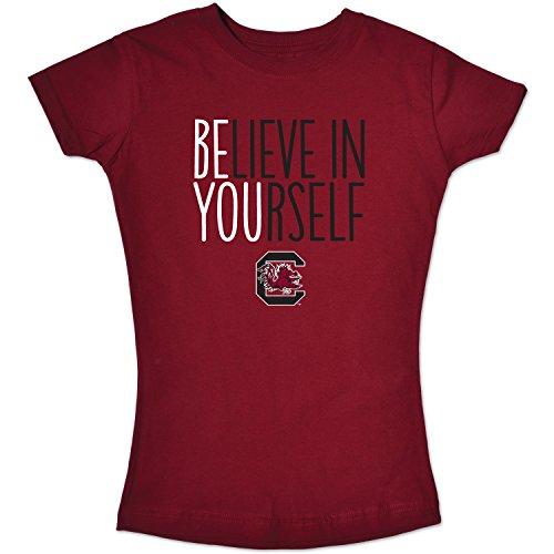 (NCAA South Carolina Fighting Gamecocks Girls Short Sleeve Tee, Size 7/X-Small, Cardinal)