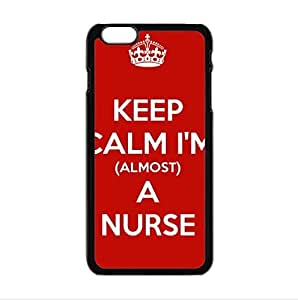 Custom keep calm I'm a nurse!red pattern personalized Case for iPhone6 plus 5.5inch PC case cellphone cover