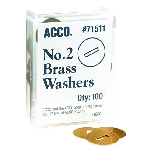 "ACCO Brass Washers, 15/32"", Box of 100 (71511)"