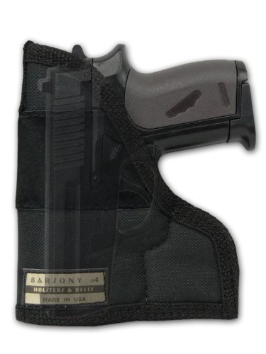Barsony Gun Concealment Pocket Holster for Small .22 .25 .380 .32 Colt 380 Mustang Pony