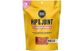 Bixbi Hip & Joint Dog Jerky Treats, Salmon, 4 Ounce