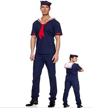 Gorgeous Hombre marino pañuelo rojo traje de marinero cos jugar ...