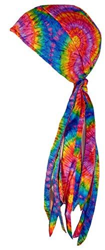 Tie Dye Doo Rag USA Made Headwrap 1960s