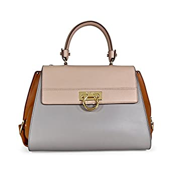 202bb2621055 Amazon.com  Salvatore Ferragamo Medium Sofia Leather Satchel - Light Pink   Clothing