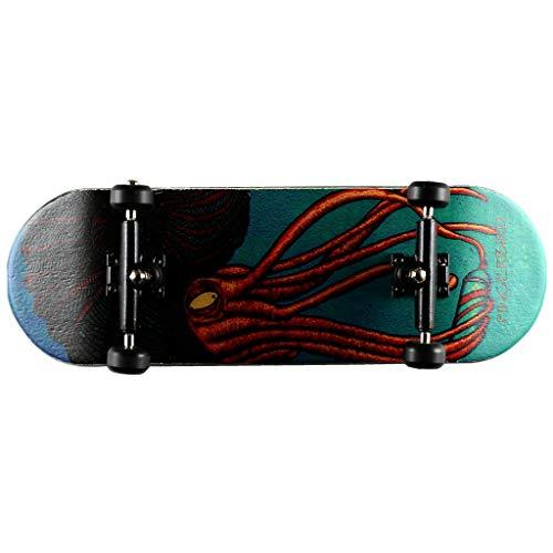- NOAHWOOD X Fingerbird Wooden PRO Fingerboards (Deck,Truck,Wheel a Set) Octopus ii Set (100x32mm)