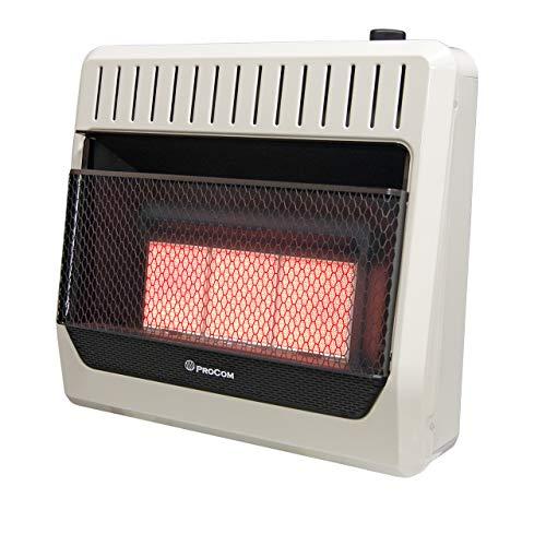 ProCom MN3PHG Heating Natural Gas Ventless Infrared Plaque Heater, 10,000 BTU, 30,000, Black