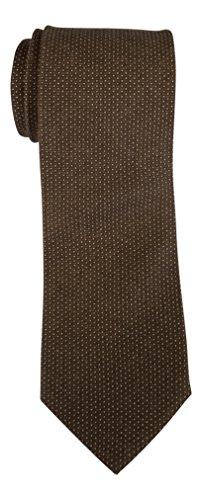 Brioni Cashmere Silk Blend Brown Nailhead Print (Brioni Mens Silk Tie)