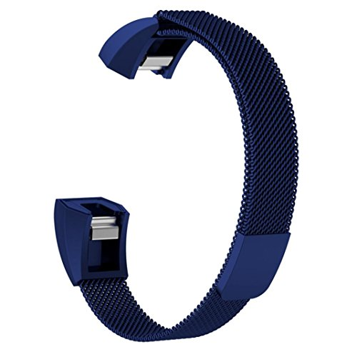 for Fitbit ACE Watch Band, Fullfun Stainless Steel Smart Watchband - Milanese Magnetic Loop Straps - (6.5-9.9inches) (B) by Fullfun (Image #2)