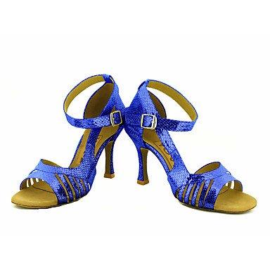 Negro Zapatos Plata Salsa Oro Personalizado Rojo Tacón Azul Latino Personalizables de Black baile rFqFE6
