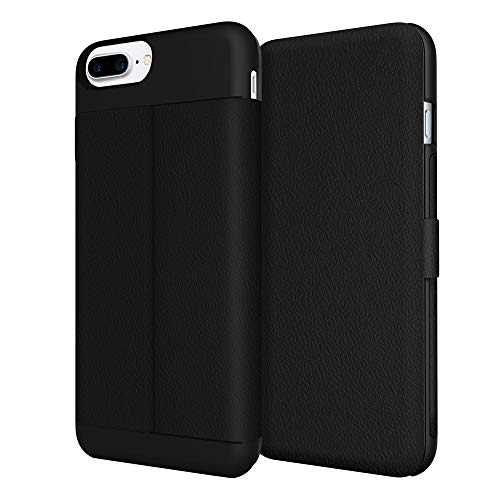 Incipio Leather - iPhone 7 Plus Case, Incipio Wallet Folio Case [Credit Card Case][Vegan Leather] Cover fits Apple iPhone 7 Plus - Black