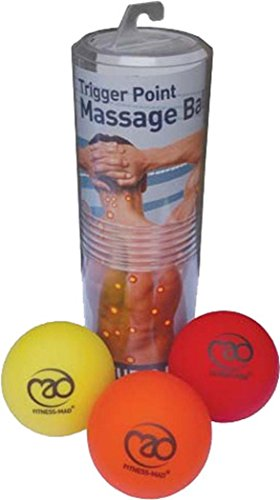 Fitness Mad Trigger Point Massage Therapy Lacrosse Ball Gym Yoga Tool Set Of 3 by Fitness Mad