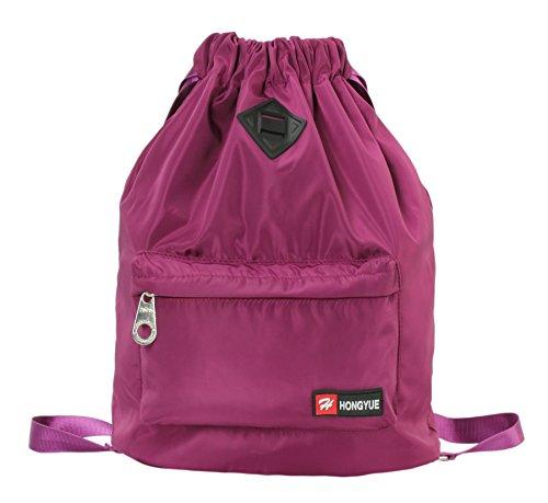 HONEYJOY Waterproof Drawstring Backapck Sport Bag (11.8