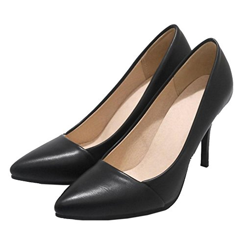 Mujer Tacones Sin Cordones con Zapatos Black Pumps RAZAMAZA Oficina w4dFOqOU